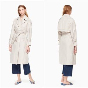 New KATE SPADE Relaxed Twill Trench Coat Large